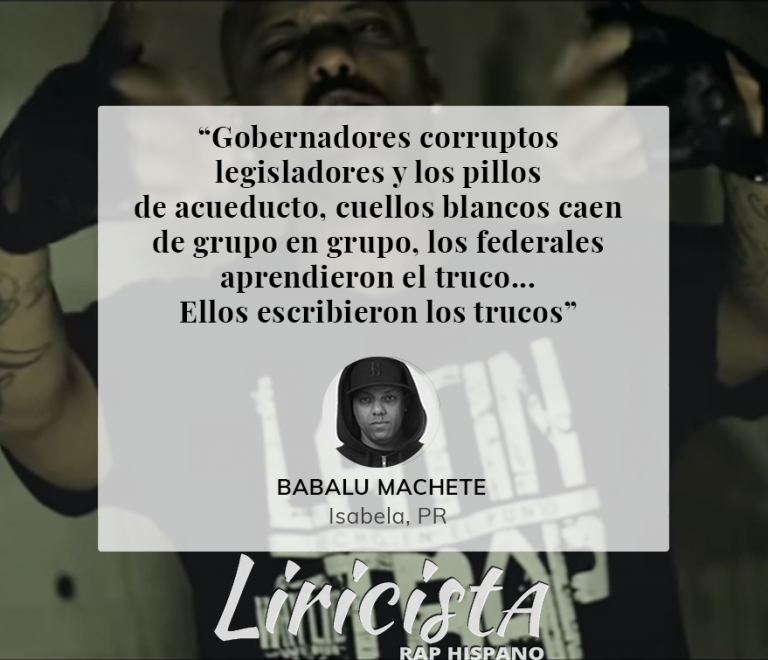 Babalu Machete – Quote