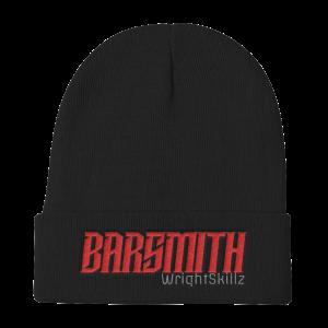 Wrightskillz Barsmith – Beanie – Negro/Rojo