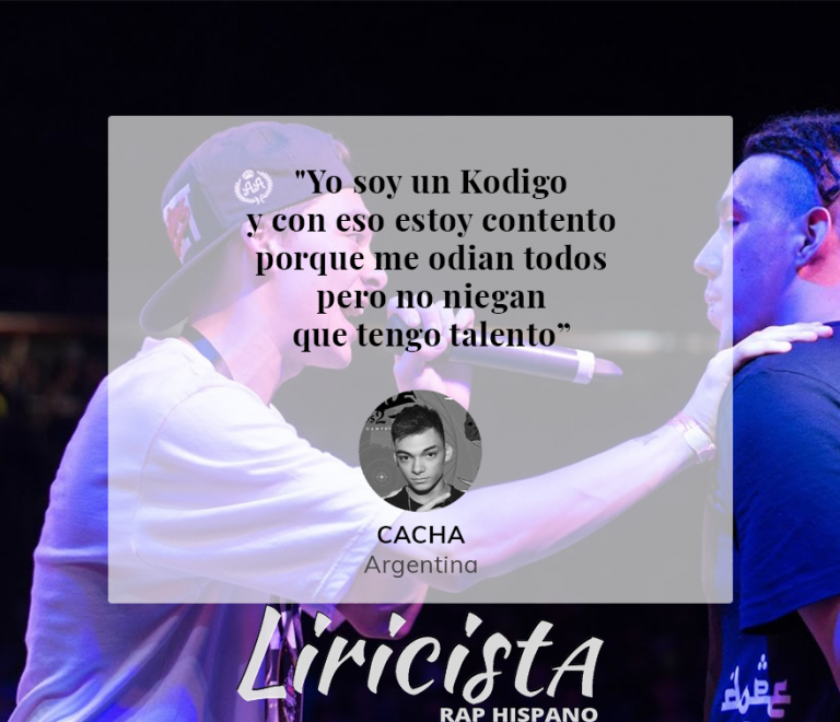 Cacha - Quote