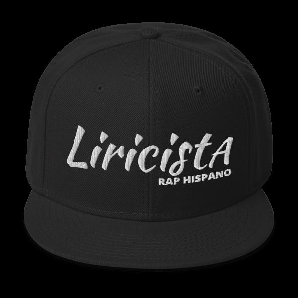 Liricista Rap Hispano – Gorra – Negro/Blanco